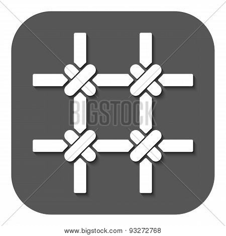 The Prison Bars Icon. Grid Symbol. Flat