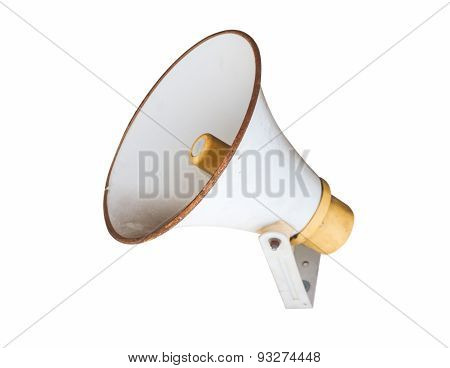 The Megaphone On White Isolate Background.