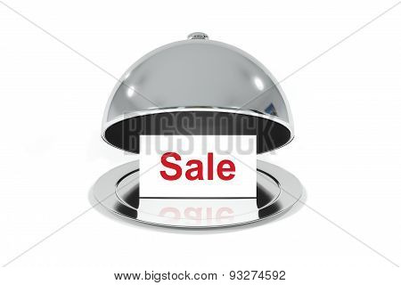 Opened Silver Cloche With White Sale