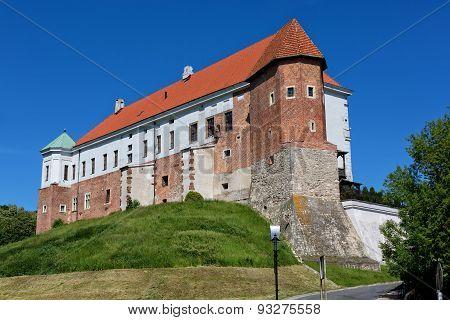 Castle in Sandomierz in Poland