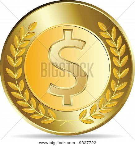 Dollar Coins Vector Illustration
