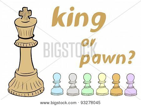 King of pawn
