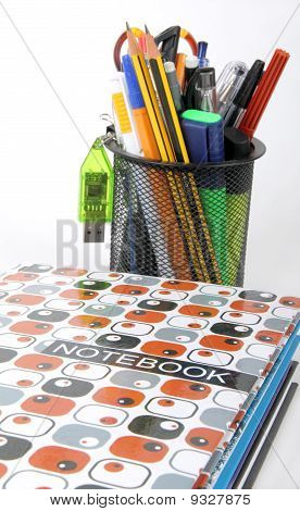 school tools and books