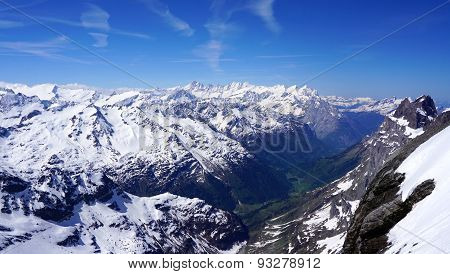 Scenery Of Snow Mountains Valley Titlis