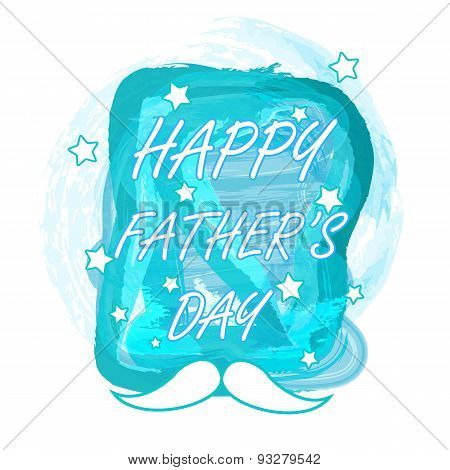 Happy fathers day watercolor design