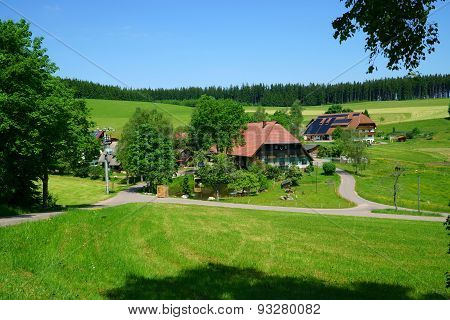 Country House And Farmhouse In The Black Forest