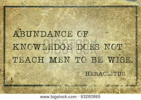 Abundance Heraclitus