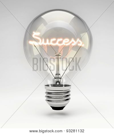 Conceptual Light Bulb (set) - Success