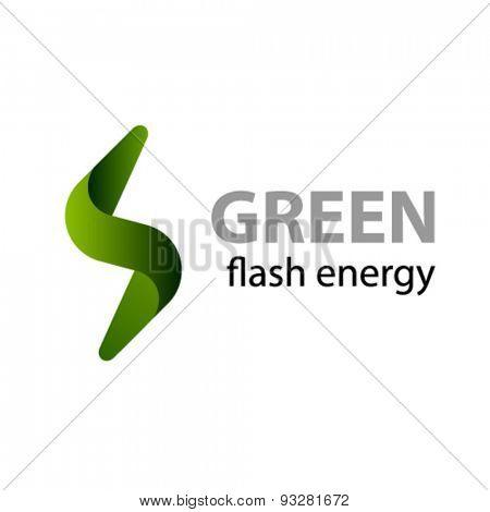 vector green flash energy icon