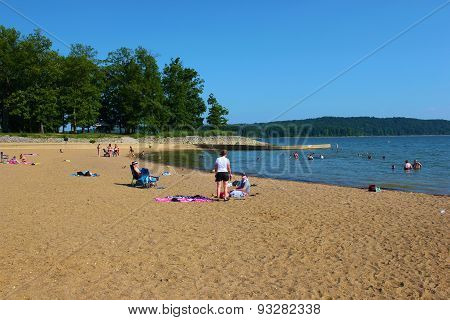 Midwest Lake Beach