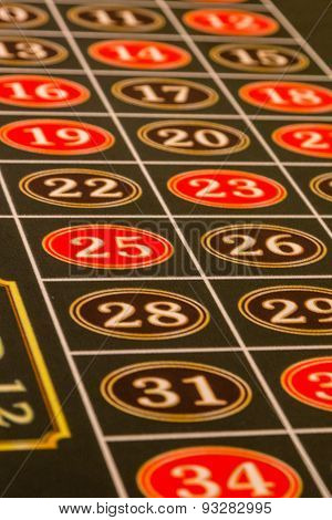Numbers On Roulette Table