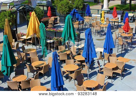 Colorful Cafe Seating