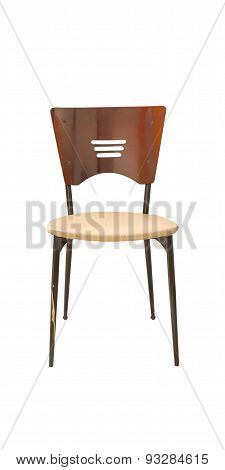 Single Chair On Wite Isolate Background.