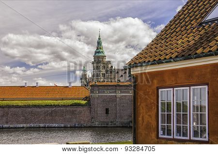 Kronborg Castle From The Moat House