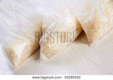 Bags Of Rice On The Table