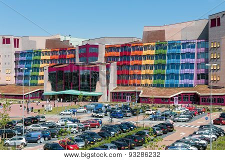 People Visiting The New Modern Isala Hospital In Zwolle, The Netherlands