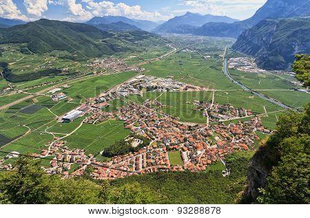 Mezzacorona Aerial View