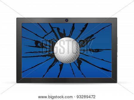 Cracked Tablet Golf