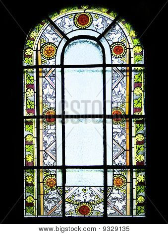 Stained Glass With Floral Motifs