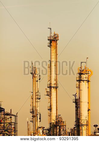 chimneys and pipelines at chemical plant Industry and factories backgrounds