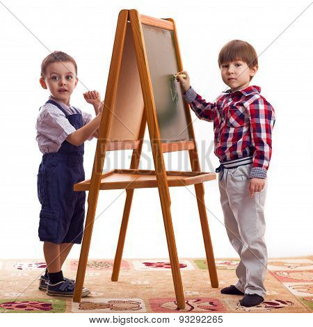 children draw