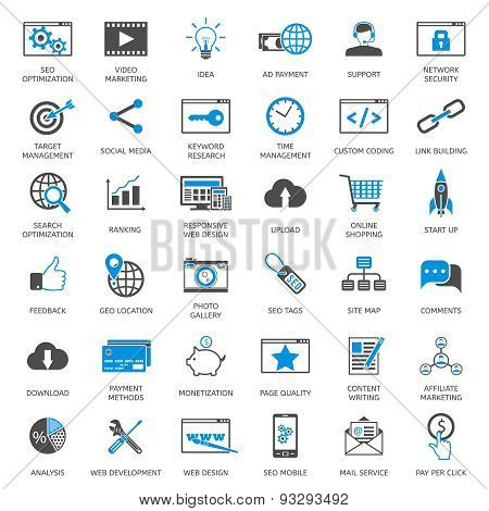 SEO optimization icons
