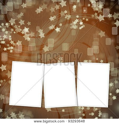 Multicoloured Backdrop For Greetings Or Invitations With Frames And Stars