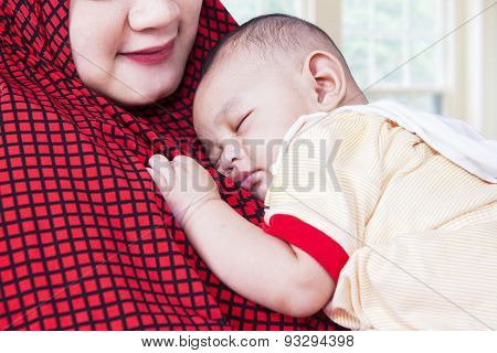 Innocent Baby And Muslim Mother
