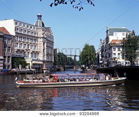 River Amstel, Amsterdam.