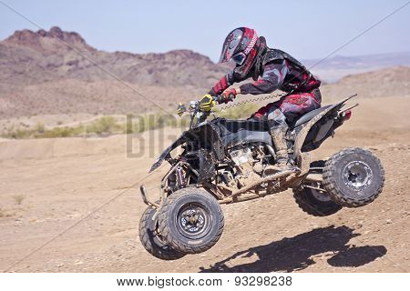 A Four Wheeler Racer Practices At Sara Park