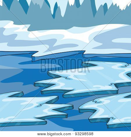Iceland - Vector Illustration