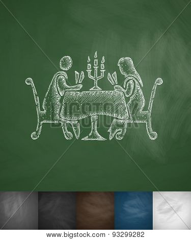 people in the restaurant icon