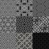 stock photo of lace-curtain  - Set of curtain lace seamless generated textures - JPG