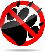 picture of paw-print  - Ban foot print animal - JPG
