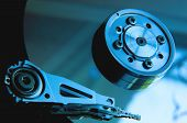 stock photo of hard-on  - Inside Hard Disk Drive HDD - JPG