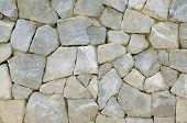 picture of wall-stone  - rock wall with stone texture and background - JPG