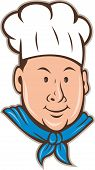 pic of chefs hat  - Illustration of a happy chef cook wearing chef - JPG