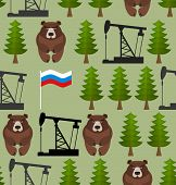 foto of big-rig  - Russian seamless pattern - JPG