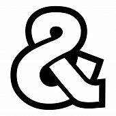 picture of ampersand  - A vector illustration of an ampersand icon - JPG