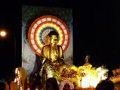 stock photo of wesak day  - Statue of Buddha took during wesak day - JPG