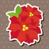 picture of poinsettias  - Poinsettia Theme Elements - JPG