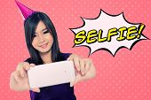 picture of self-confident  - Fun illustration of self shot photo trend - JPG