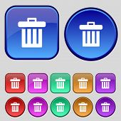 picture of recycling bin  - Recycle bin icon sign - JPG