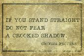 pic of proverb  - If you stand straight do not fear  - JPG