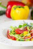 pic of yellow-pepper  - Fresh spring salad - JPG