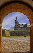 picture of william shakespeare  - Kronborg castle made famous by William Shakespeare in his play about Hamlet situated in the Danish harbour town of Helsingor - JPG
