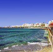 foto of greek-island  - A square image of the southern coastal town of Lerapetra on the Greek island of Crete - JPG