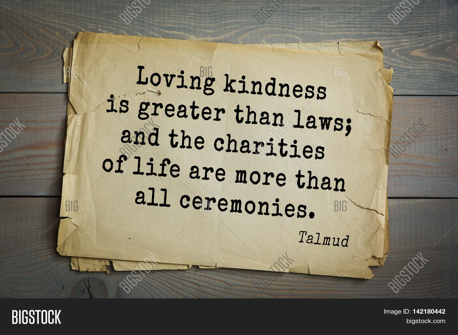 Laws Of Life Quotes Top 70 Talmud Quote.loving Kindness Image & Photo  Bigstock