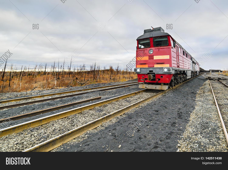 Diesel Locomotive Freight Train Image & Photo   Bigstock