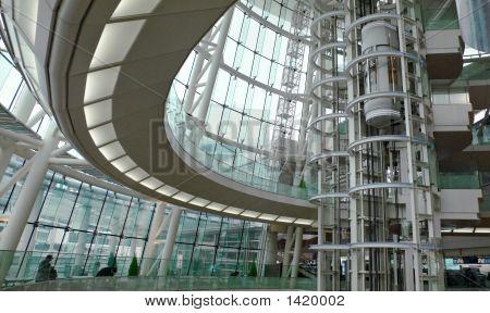 Modern Futuristic Building Interior